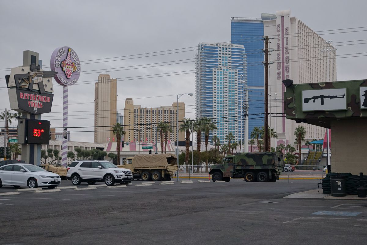 A view of Circus Circus Las Vegas from Battlefield Vegas