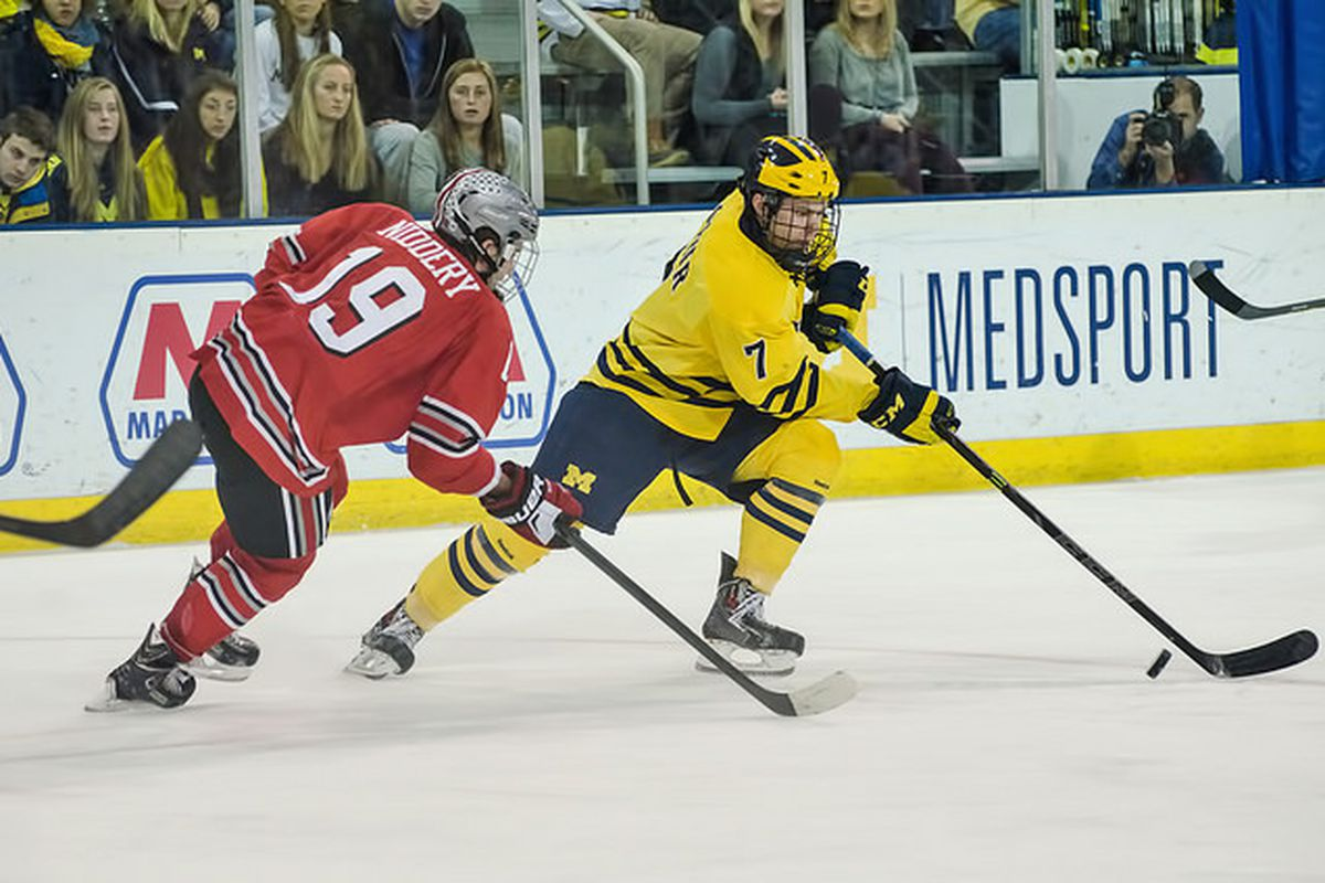 Michigan is in the driver seat to be the #1 seed, but will likely have to do so without JT Compher.