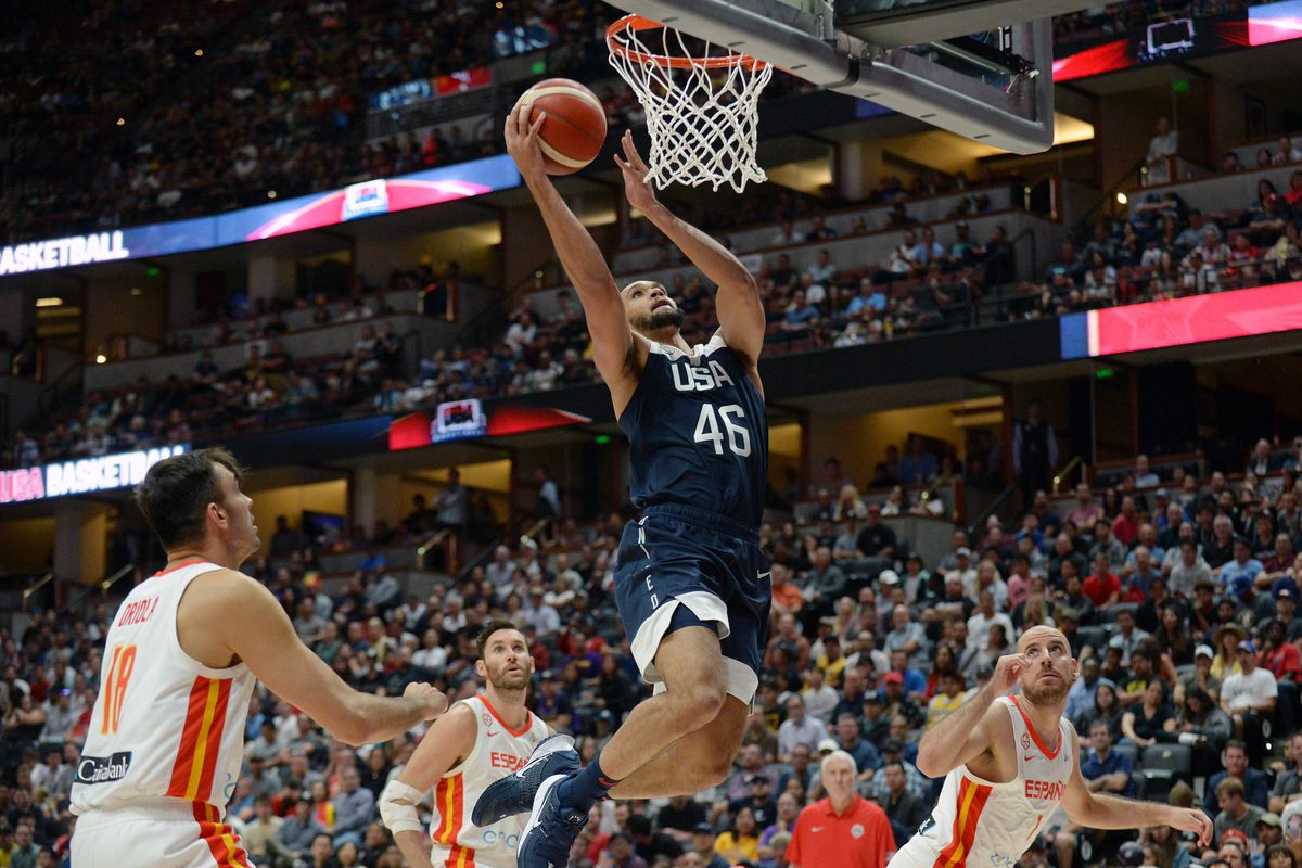Basketball: USA Basketball Men's National Team Exhibition -Spain at USA