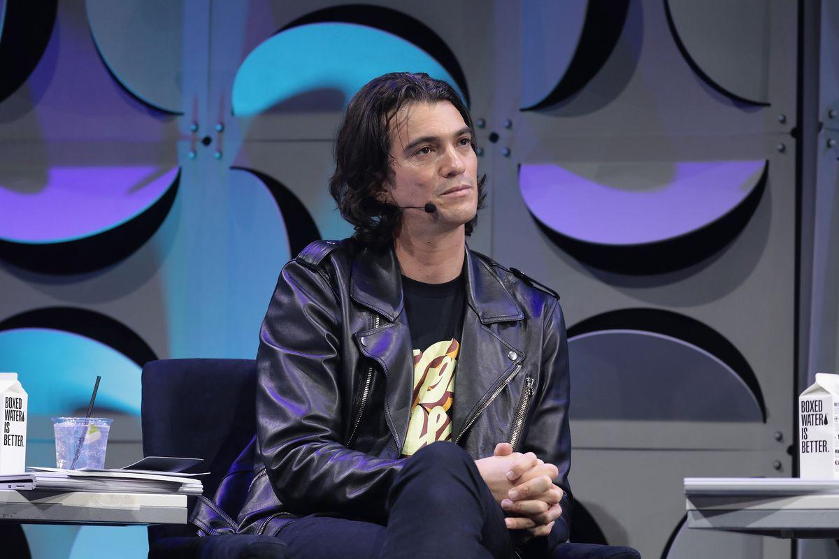 WeWork CEO Adam Neumann onstage