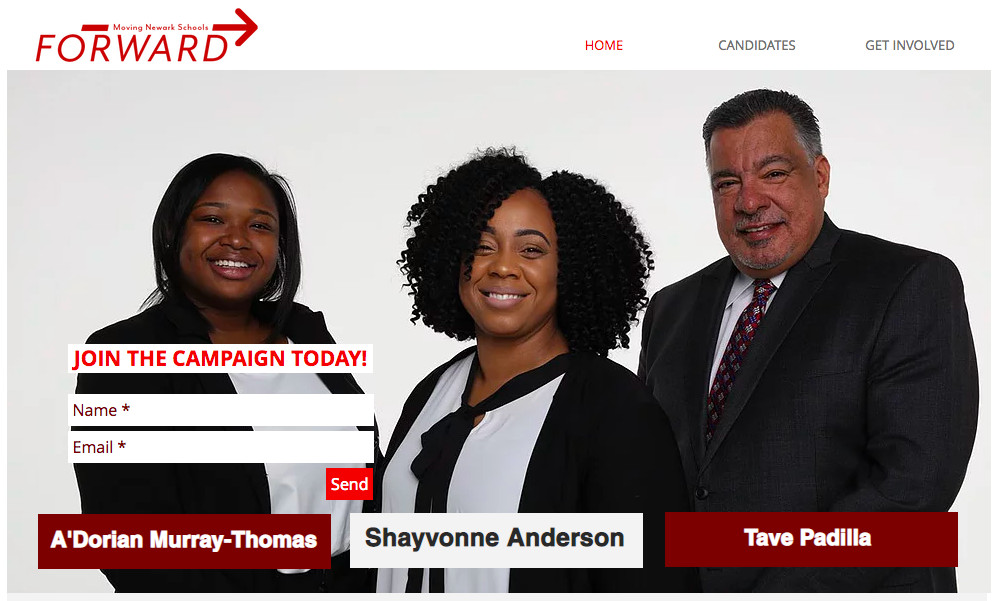An image from the Moving Newark Schools Forward campaign website.