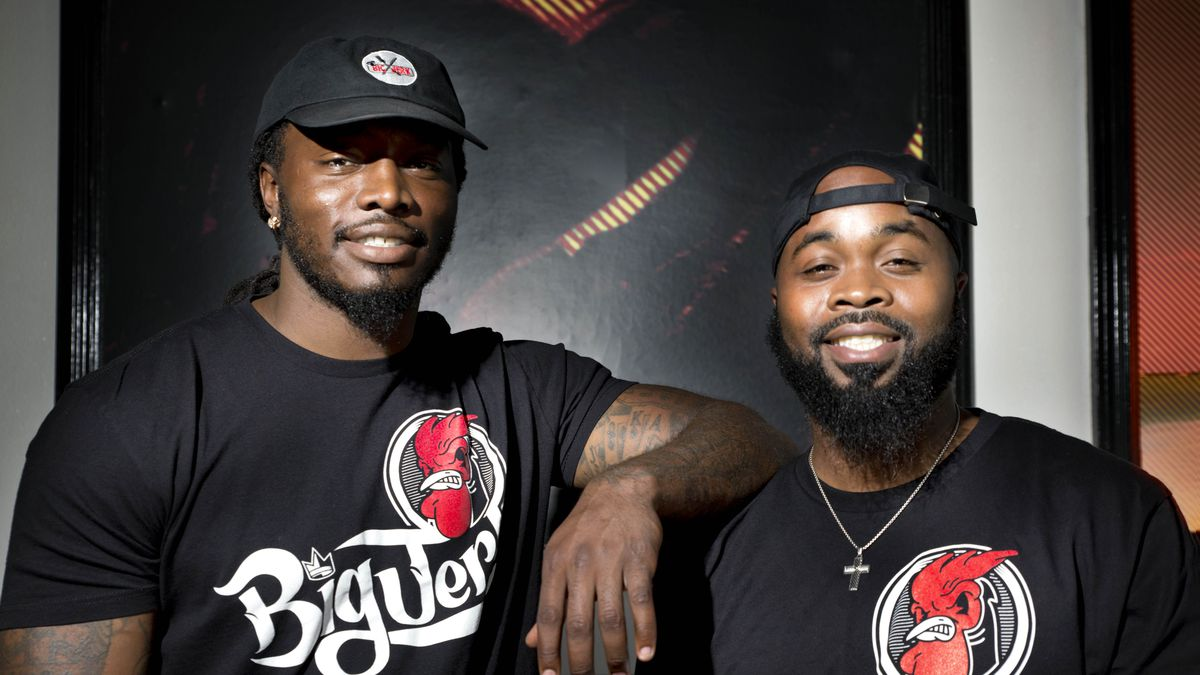 Former NFL player Quinton Carter, left, and Tramaine Stephens now have Big Jerk.