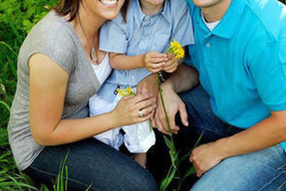 Draper Police Sgt. Derek Johnson with his family.