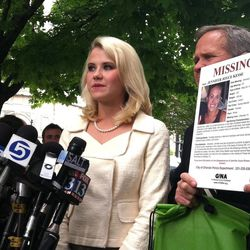 Elizabeth Smart speaks at the federal courthouse in Salt Lake City after Brian David Mitchell's life sentence in the kidnapping of Smart Wednesday, May 25, 2011.