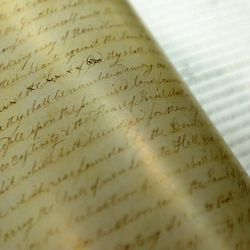 The LDS Church, in cooperation with the Community of Christ, announces the release of the printers manuscript of the the Book of Mormon, during a press conference Tuesday, Aug. 4, 2015, at the LDS Church's History library in Salt Lake City.