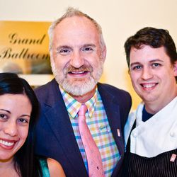 Celebrity chef Art Smith with his team from Art and Soul, including chef Wes Morton.