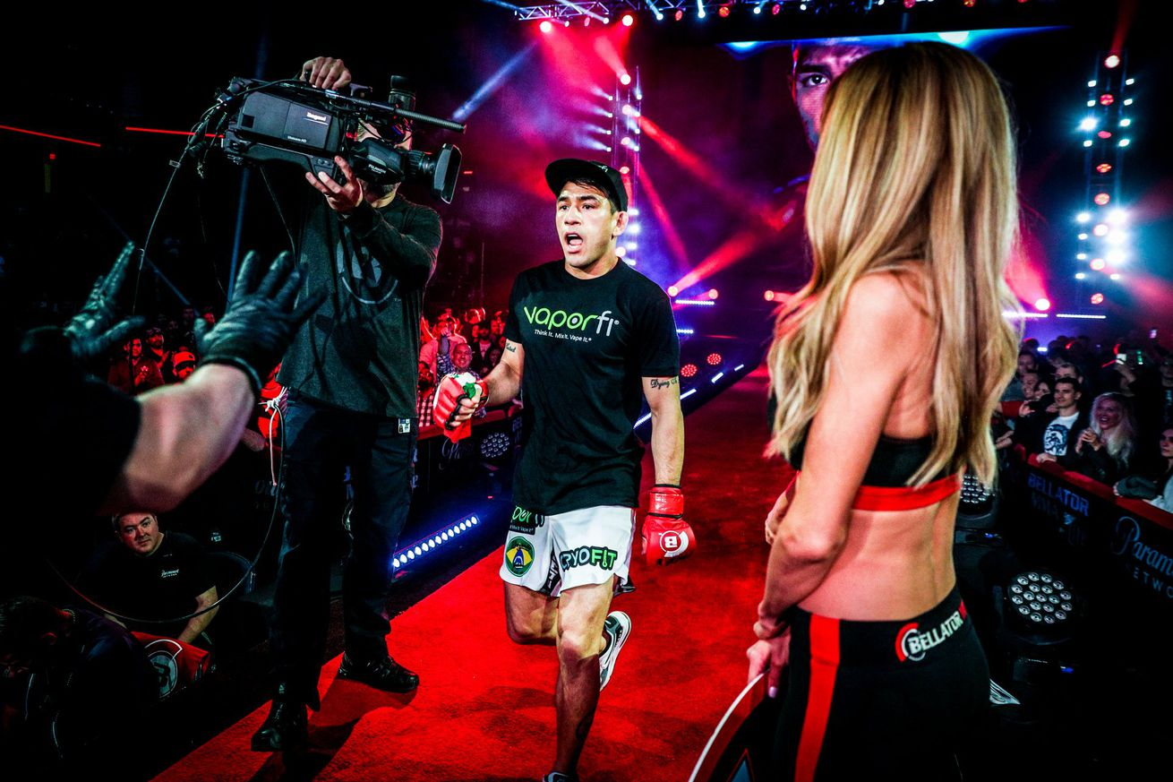 """Emmanuel Sanchez (pictured) challenges Patricio """"Pitbull"""" Freire for the featherweight title at Bellator 209 on Thursday in Tel Aviv, Israel"""