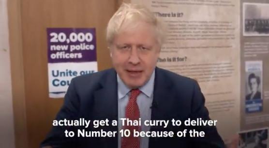Boris Johnson talks about Thai curry on Twitter
