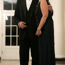 FILE - In this Nov. 2, 2005, file photo, then Sen. Bill Frist, R-Tenn., and his wife Karyn arrive for a dinner at the White House in Washington. A family spokeswoman confirmed on Monday, Sept. 10, 2012, that the Frists have divorced after 31 years of marriage.