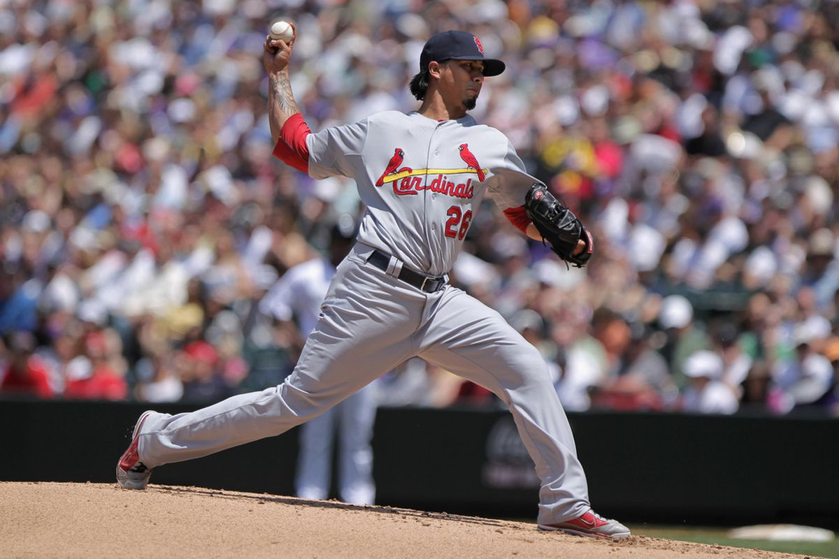 Starting pitcher Kyle Lohse of the St. Louis Cardinals.
