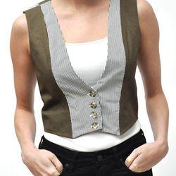 "Women's Contrast Vest, <a href=""shop.alterbrooklyn.com/ALTW502.html"">$155</a>"