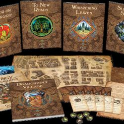 The game comes with six adventures and a huge town exploration book. Legacy of Dragonholt is something to behold.