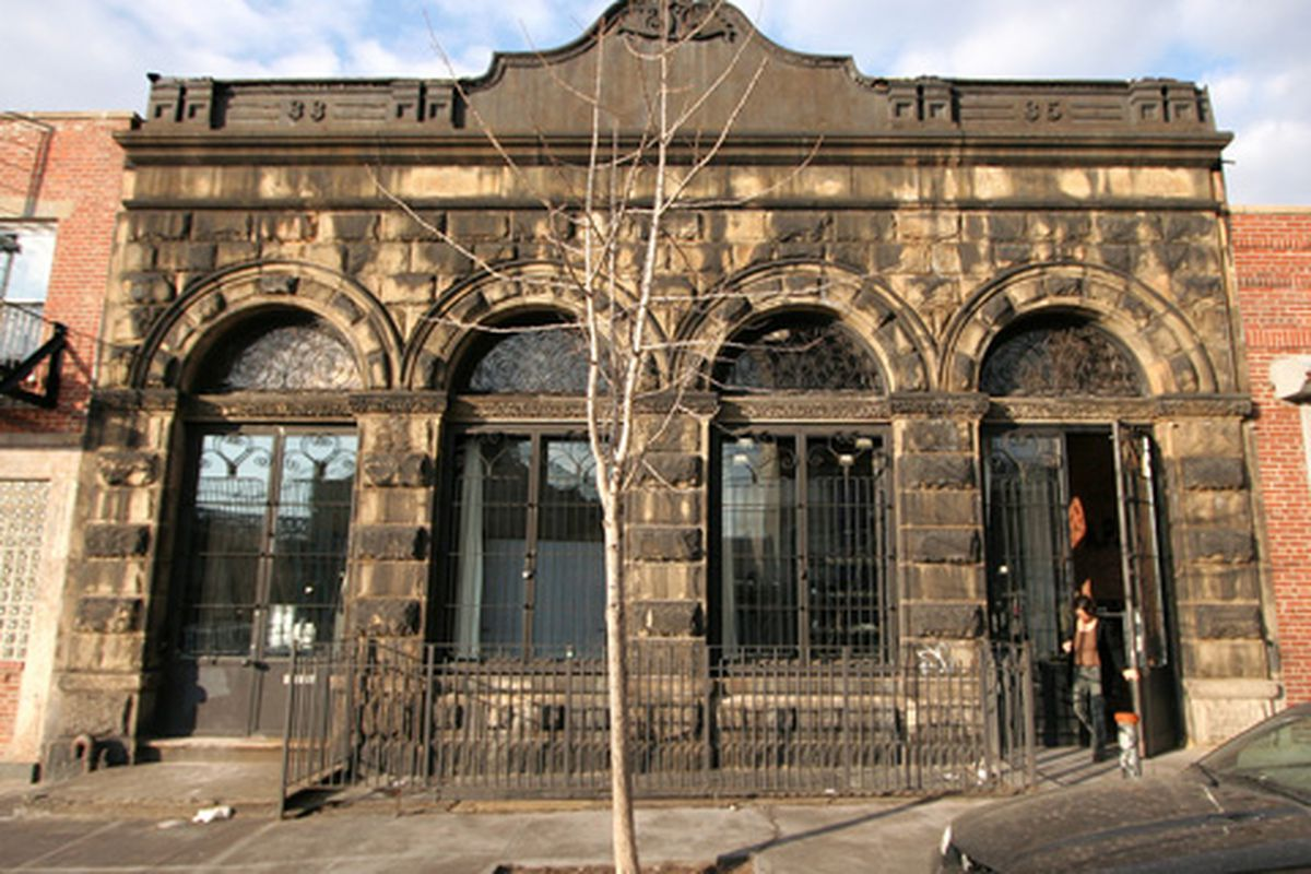 "The A.P.C. Surplus store in Williamsburg via <a href=""http://testofwill.blogspot.com/"">Femia</a>, 3/16/2008"