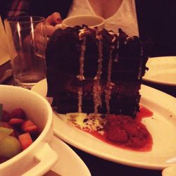 So this ginormous piece of cake happened at Arlington Club.
