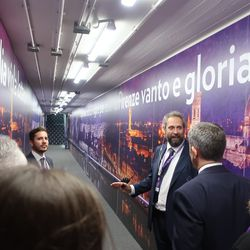 Several of the murals in the tunnel along with the great Edoardo