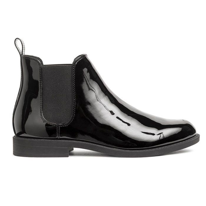 H&M Patent Chelsea Boots