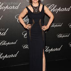 Juliette Binoche in Atelier Versace at the Chopard Trophy Ceremony.