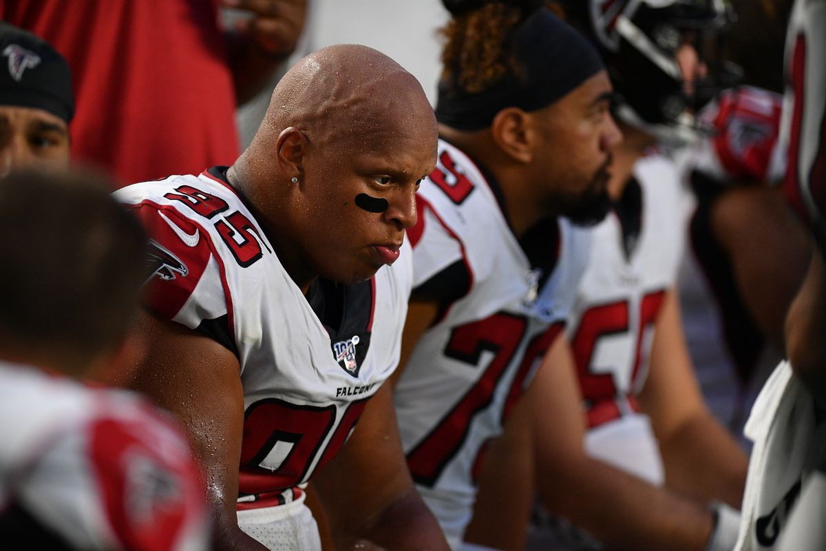 wholesale dealer e7d0a 28859 Falcons DL has made progress in 2019, according to DT Jack ...