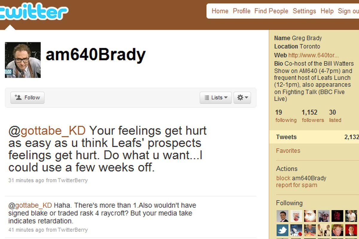 Greg Brady vs. Karina
