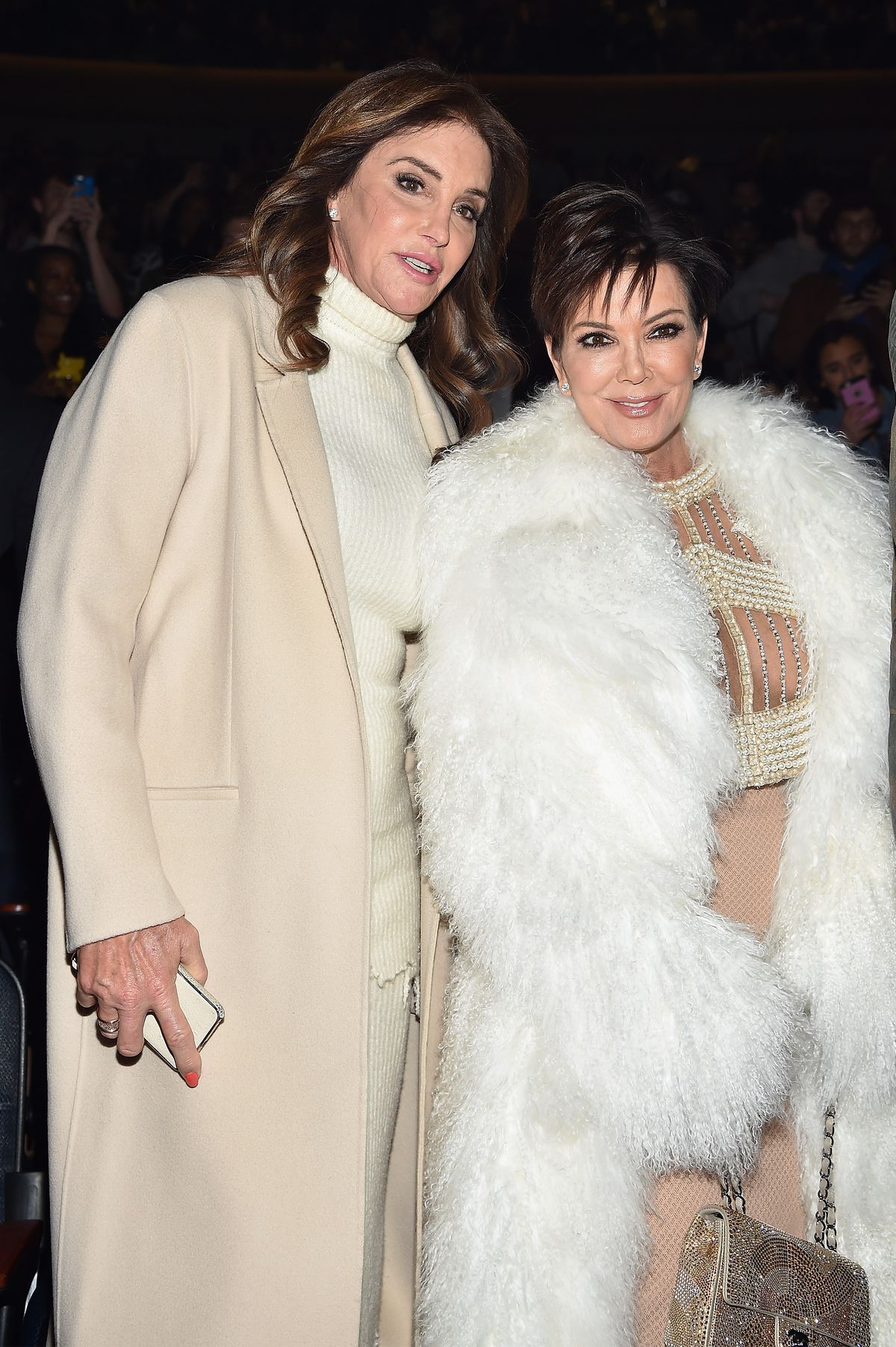 Caitlyn and Kris Jenner Kanye West Yeezy Season 3 - Front Row