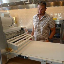 Drew Kim explains the new sheeter, which will improve the Pop Tart making process.