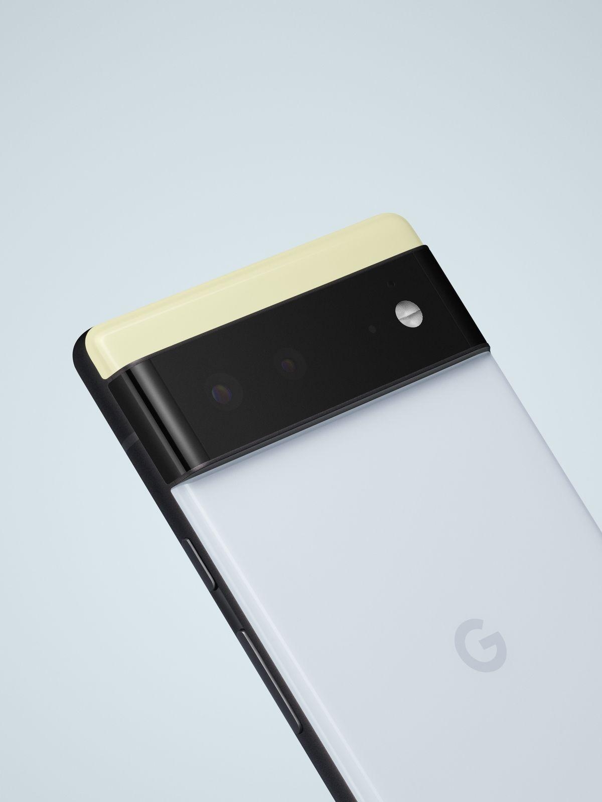 The regular Google Pixel 6 has a matte rail.