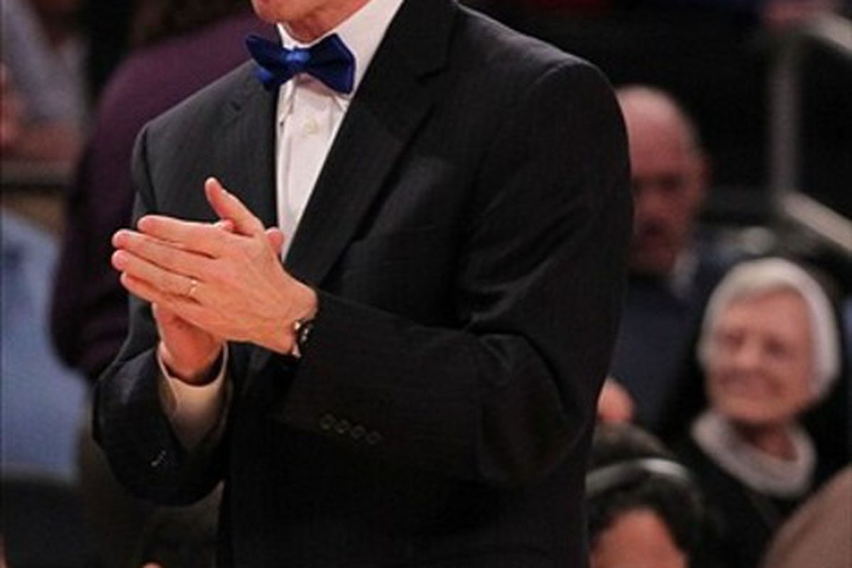 Anyone who can wear a bow tie this well has earned a head coaching gig, frankly.