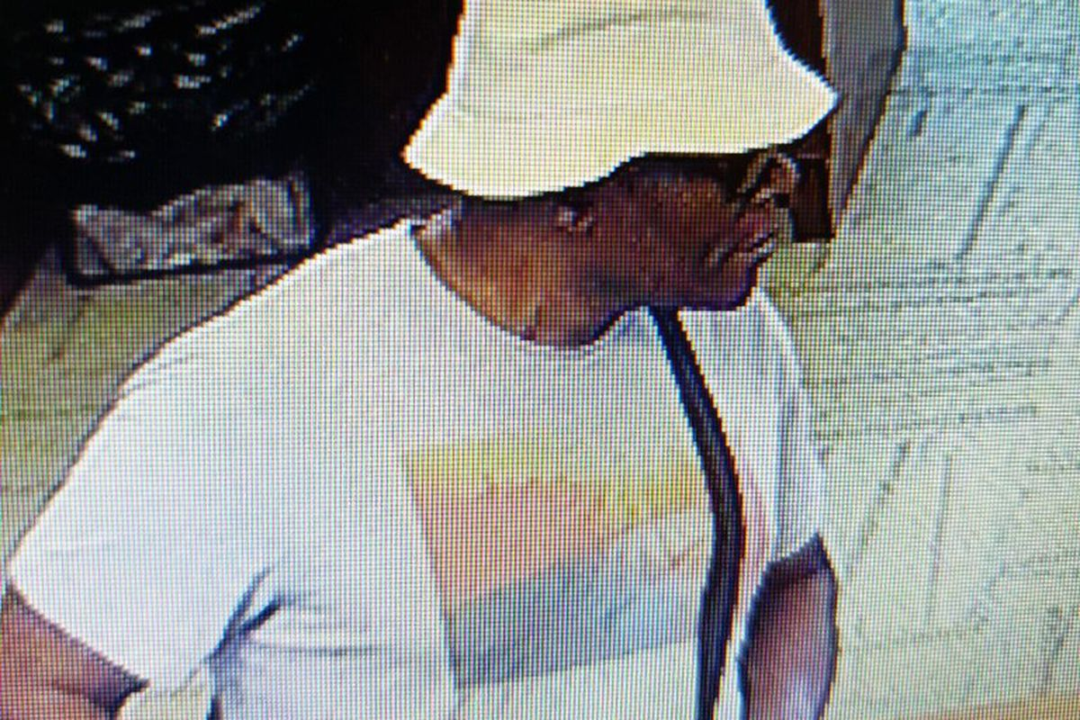 Surveillance image of the suspect in a bank robbery July 15, 2019, at the First Secure Bank at 15901 Central Ave. in Oak Forest.