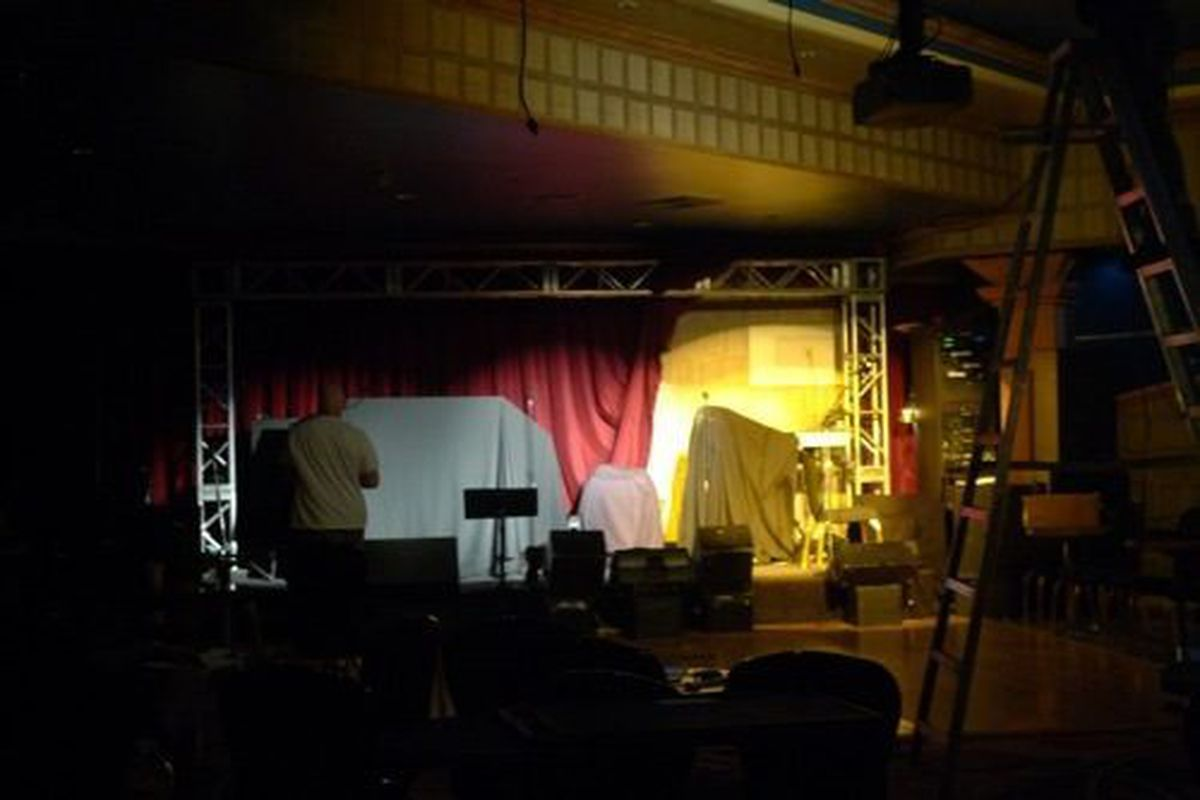 The stage area of the Indigo Lounge.