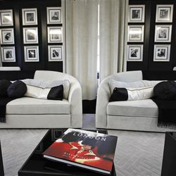 This  Friday, March, 16, 2012 photo shows main living room in one of the five bedroom luxury penthouse apartments overlooking Hyde Park, London which is available for hire during the London 2012 Olympics.