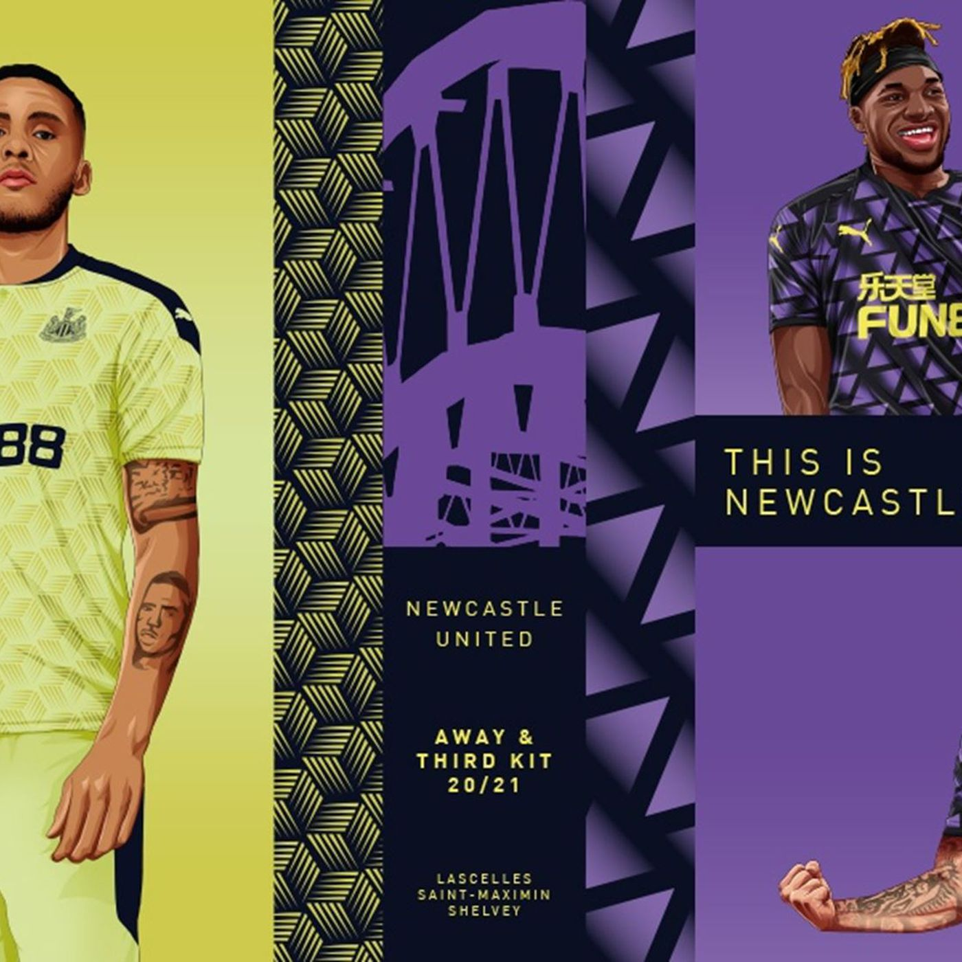Newcastle United Announce 2020 2021 Away And Third Kits Coming Home Newcastle