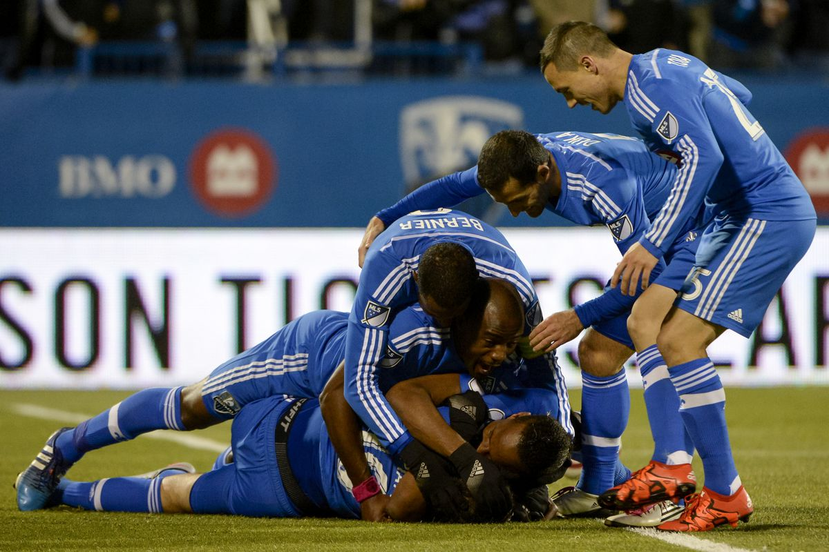IMFC celebrate after scoring a 3rd goal on Thursday versus TFC.