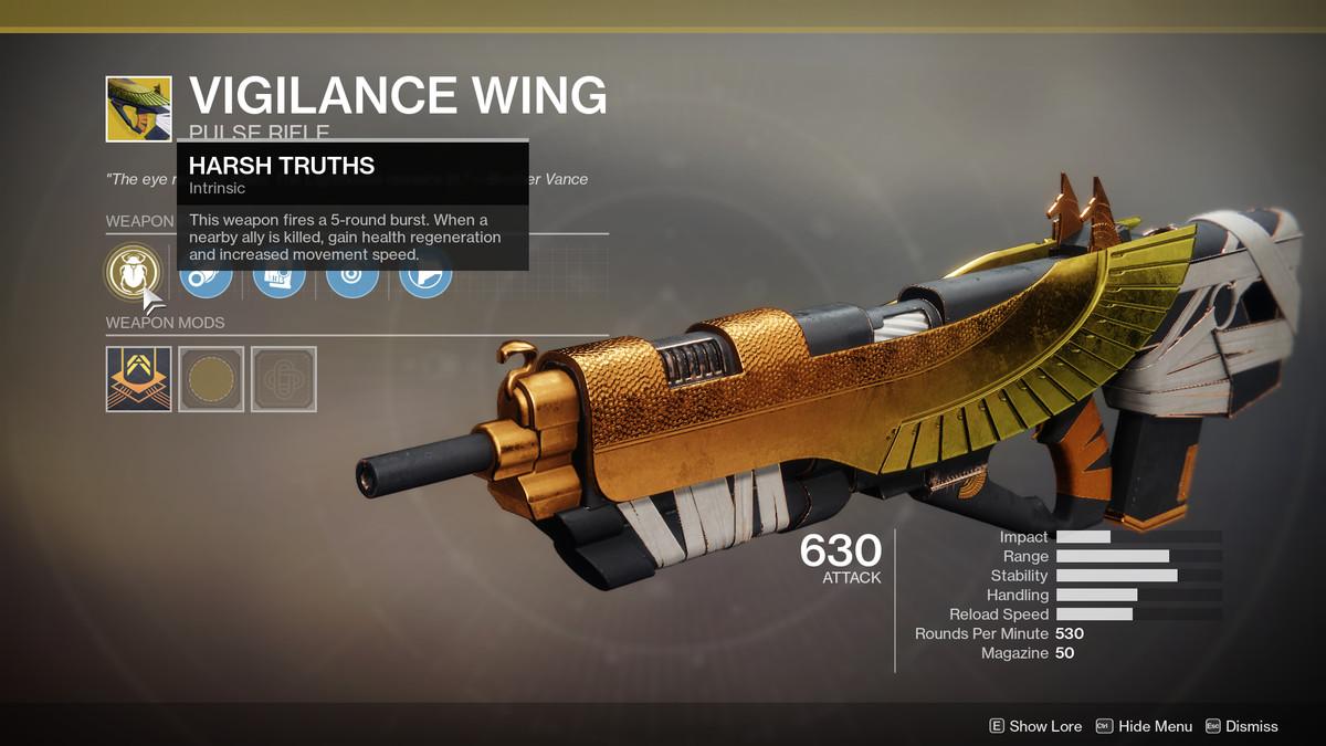 Vigilance Wing Exotic Destiny 2