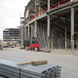 New scaffolding, main gate -