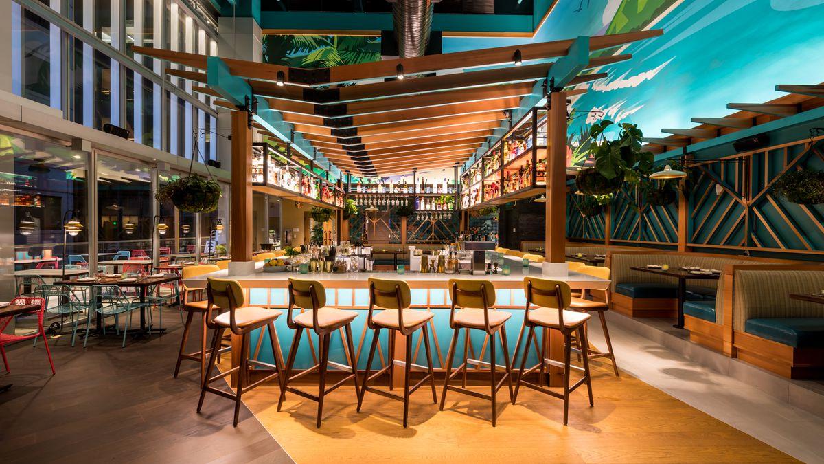 The bar at Trailblazer Tavern