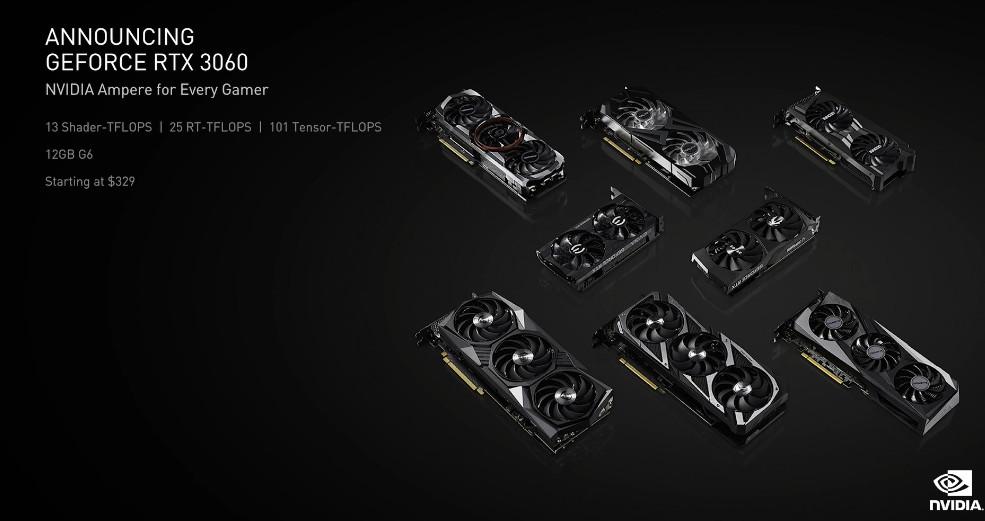 نسل جدید کارت گرافیک Nvidia با مدل RTX3060