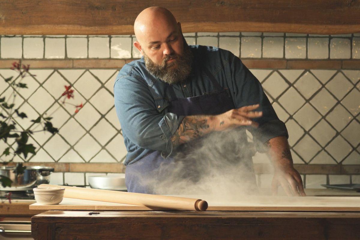 Evan Funke stars in Quibi's Shape of Pasta