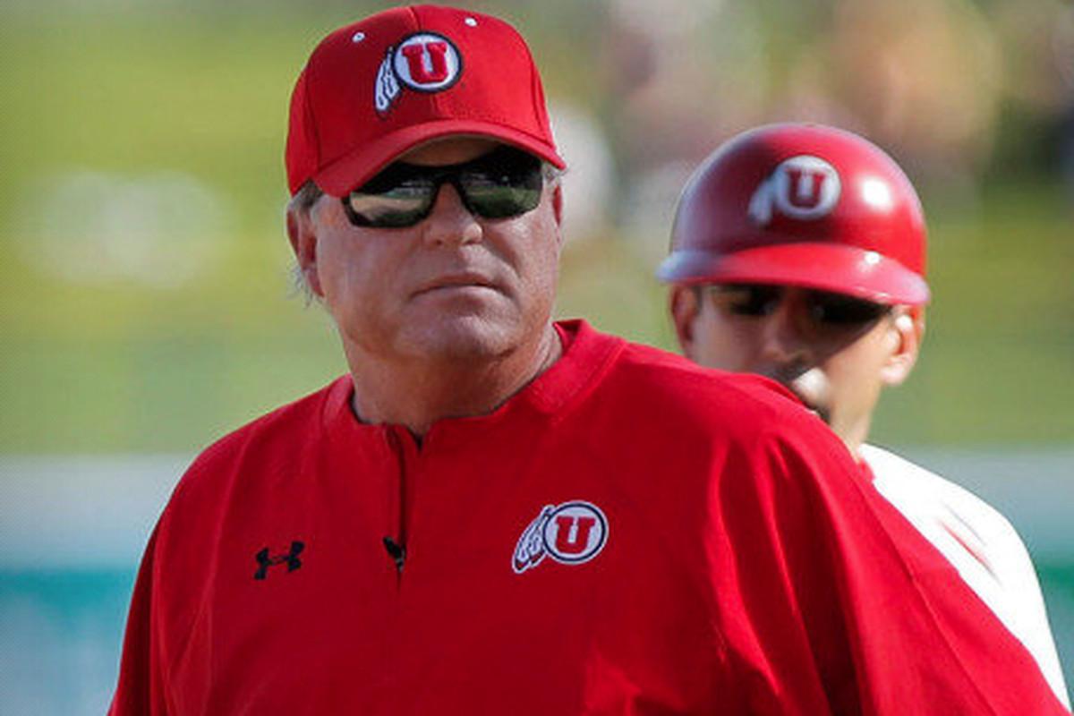 Utah head baseball coach Bill Kinneberg leads his team against Utah Valley University to open the home portion of the season.