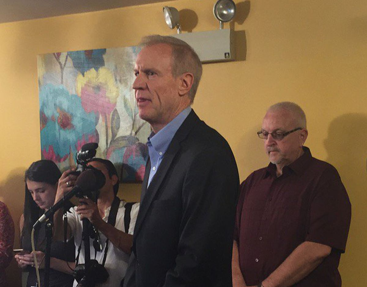 Speaking at Club 81 Too, Gov. Bruce Rauner urged lawmakers not to override his veto of the budget package passed by the House on Sunday and the Senate on Tuesday. The Senate immediately overrode that veto on Tuesday, and an override vote will be held in t