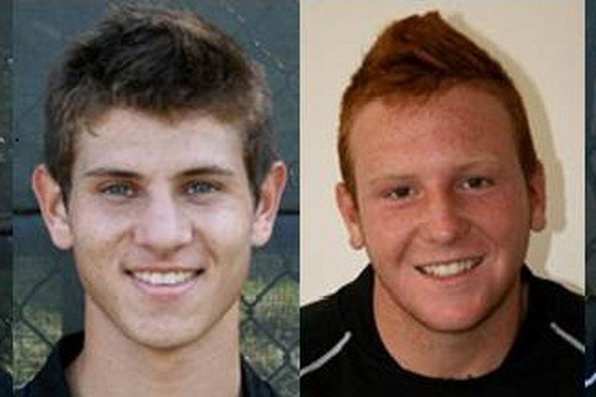 """Four members of FC DELCO youth club and Philadelphia Union U17 team. From left: Jimmy McLaughlin, Mike Gonzalez, Chris Somerville, Ryan Dodds (Photos Courtesy of <a href=""""http://www.fcdelco.org/"""" target=""""new"""">FC DELCO</a>)"""