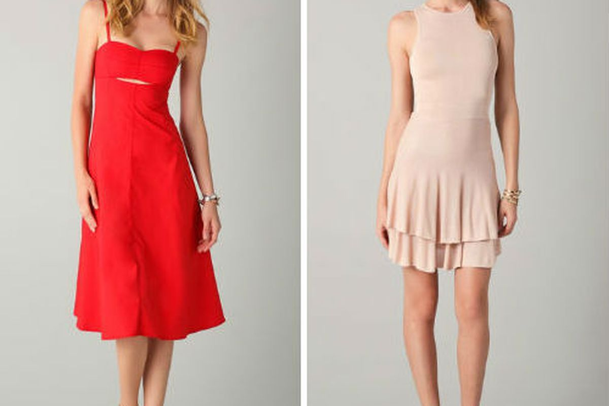 10 Crosby Derek Lam cutout sundress for $396 (was $495) and A.L.C.'s Lena Dress for $396 (was $495), via Shopbop
