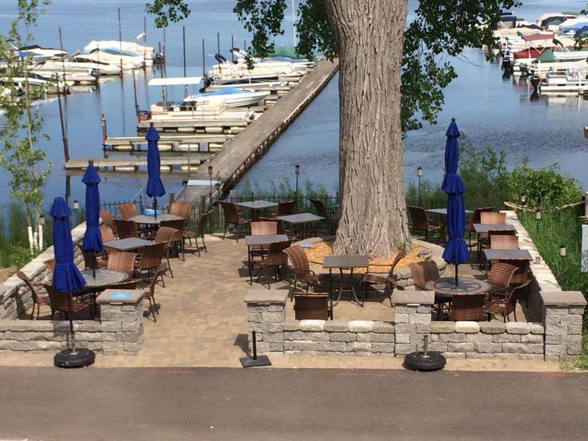 The patio view from Acqua in White Bear Lake