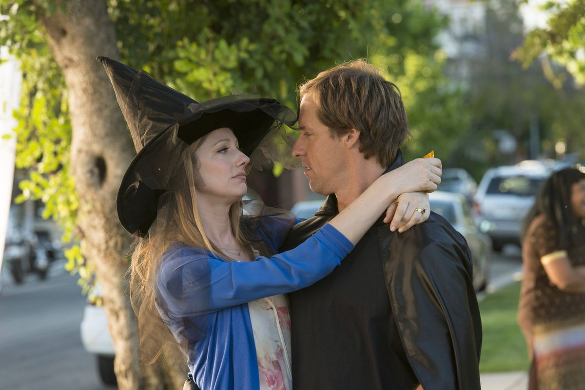 Judy Greer and Nat Faxon star in Married.