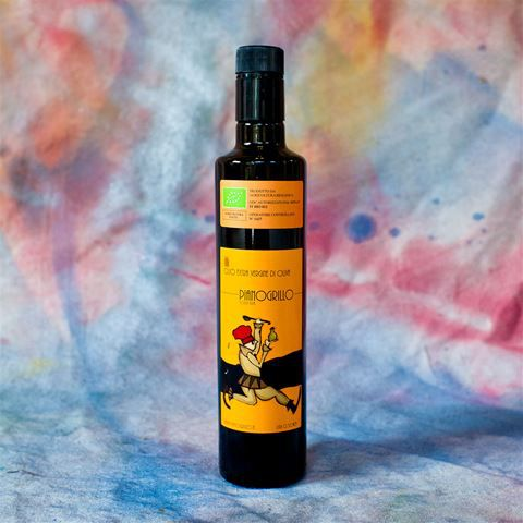 A bottle of Pianogrillo olive oil