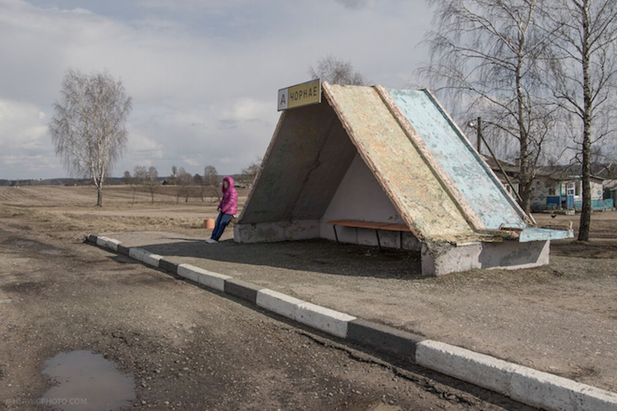 A Soviet-era bus station in Córnaje, Belarus, featured in photographer Christopher Herwig's new book <b>Soviet Bus Stops</b>. All photos by Christopher Herwig