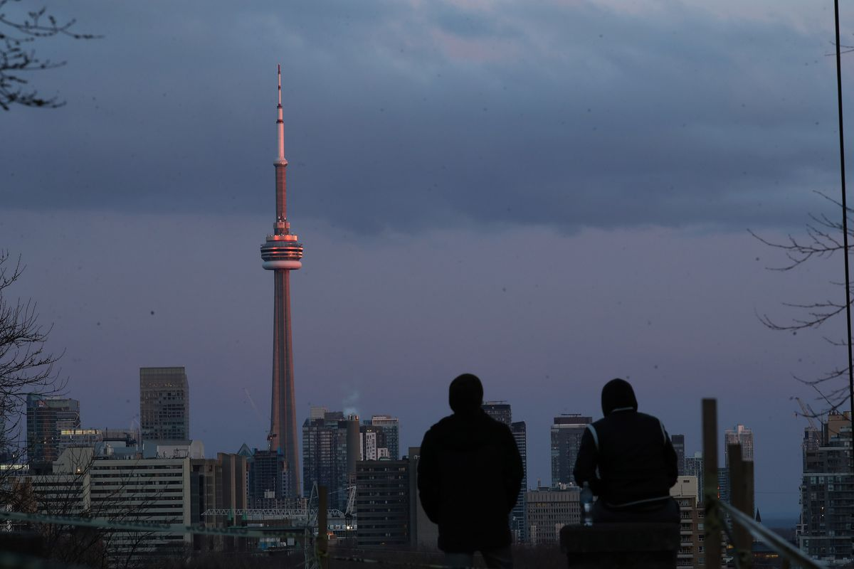 People in Toronto are encouraged to keep physical distancing to slow the spread of COVID-19