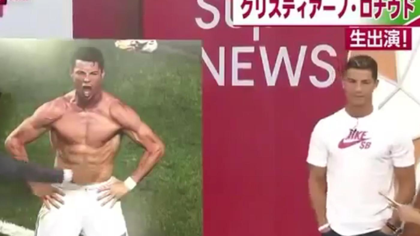 Putting Cristiano Ronaldo on Japanese TV was a bad idea