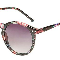 This preppy, plastic rounded frame swaps tortoise shell for floral print.