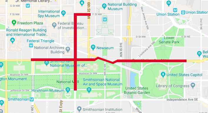 Map 4 Life.Mapping March For Life 2018 Road Closures March Route Curbed Dc