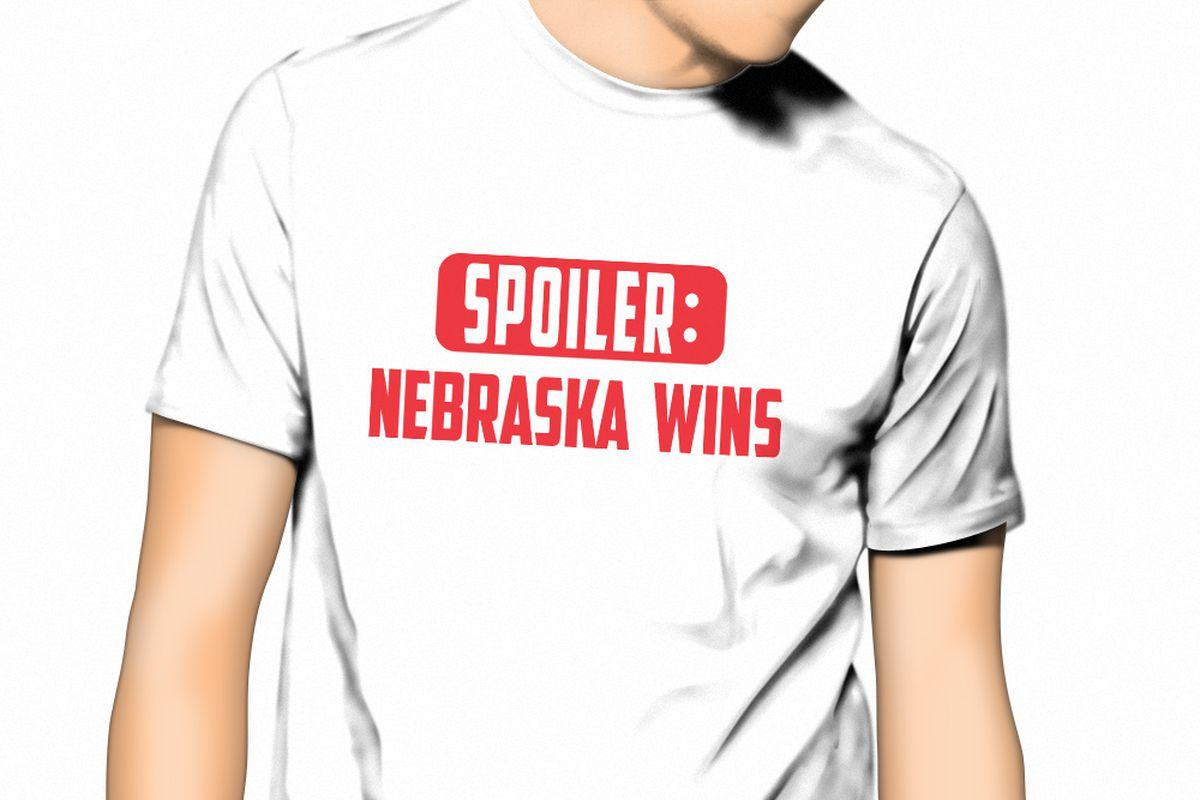 """Nebraska """"Spoiler"""" t-shirt"""